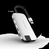 HyperDrive SLIM 8-in-1 USB-C Hub,  Silver
