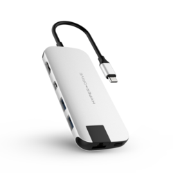 HyperDrive SLIM 8-in-1 USB-C Hub,  Silver