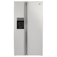 Teka 616 liters Free standing Side by Side Refrigerator NFE3 650 X, Water and Ice dispenser, Full No Frost, Stainless Steel
