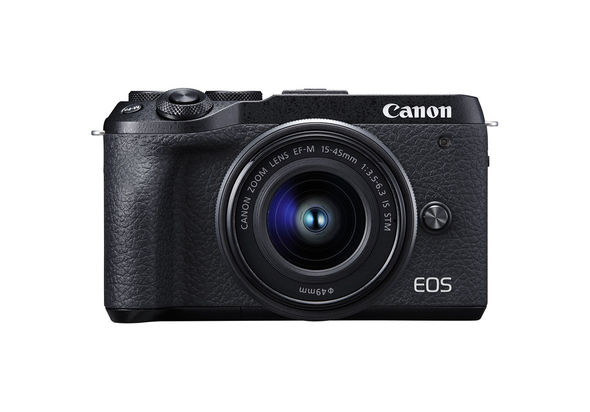 Canon EOS M6 Mark II Mirrorless Digital Camera with 15-45mm Lens, Black