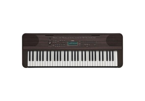 Yamaha PSR-E360DW 61-Key Portable Keyboard, Dark Walnut