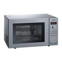 Siemens iQ100 free-standing microwave Stainless steel HF24G541M