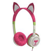 iFrogz Little Rockers Kids Kitten Headphones, Hot Pink Kitten