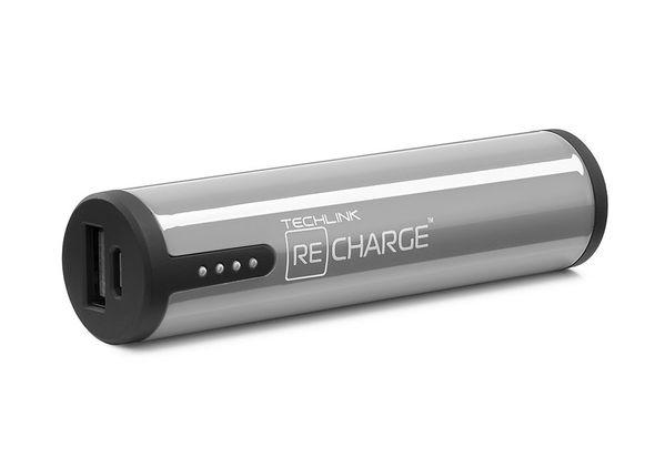 Recharge 3400 PB Lightning & Micro USB Charger, Grey