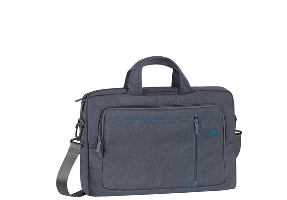 Rivacase 7530 Laptop Canvas shoulder bag 15.6  , Grey