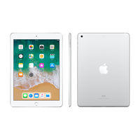 "Apple iPad 6th Gen Wi-Fi 128GB 9.7"" , Silver"