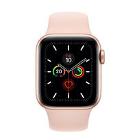 Apple Watch Series 5 44mm Gold Aluminium Case with Pink Sand Sport Band, GPS+ Cellular