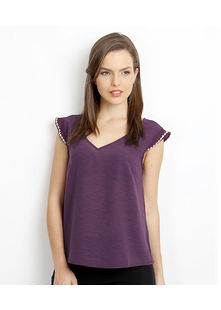 Butterfly Back Top,  purple, s