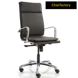 Black Eames Double Cushion Chair LX HB