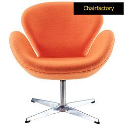 Arne Jacobsen Orange Swan Chair Replica
