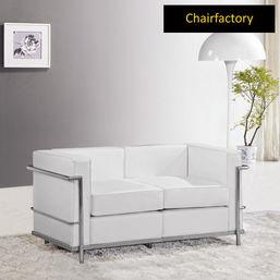 Le Corbusier Petit Comfort Replica Two Seater Sofa - White, black
