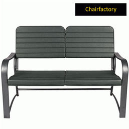 Roxy Black Outdoor Bench - 2 Seater