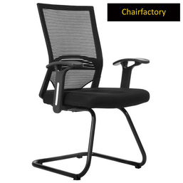 Telsa Mid Back Visitor Fixed Chair - Black