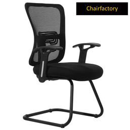 Orry Mid Back Visitor Fixed Chair - Black