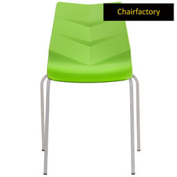 Preston Cafe Chair with Chrome Legs, white