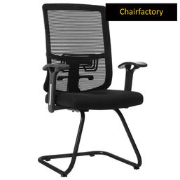 Trubo Mid Back Visitor Fixed Chair - Black