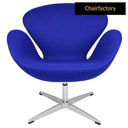 Arne Jacobsen Royal Blue Swan Chair Replica
