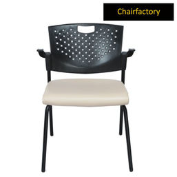 Eckard Study Room Chair With White Seat Cushion