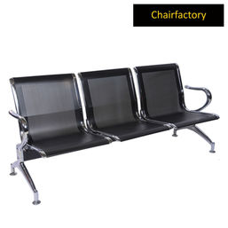 Alps Three Seater Black Airport Bench