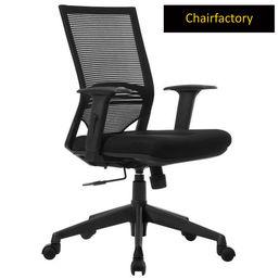 Telsa Mid Back LX Ergonomic Chair for Workstation - Black