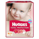 Huggies Total Protection M (5 - 11 Kg) , 40 Pieces, 40 diapers