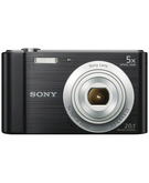 Sony W800 20.1 MP Digital Camera with 16gb Memory card & case,  Black