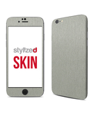 Stylizedd Premium Vinyl Skin Decal Body Wrap for Apple iPhone 6S - Brushed Aluminum
