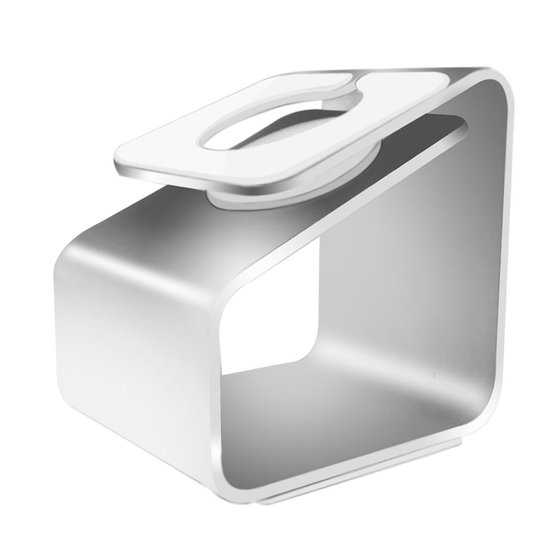 Aluminum Metal Charging Stand Docking Station for Apple Watch 38mm/42mm Silver