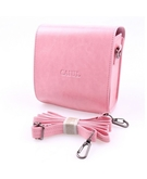 Caiul Instax Mini 8 PU Leather Camera Case Bag - Pink