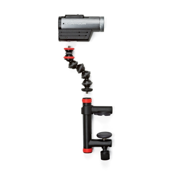Joby Action Clamp & GorillaPod Arm (Black/Red) With Gopro Mount JB01280-BWW