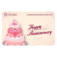 Malabar Gold and Diamonds Happy Anniversary Gift Voucher, 15000
