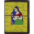 Craftsgallery Handmade Paper Diary With Lady Print, 4 x 6 inch