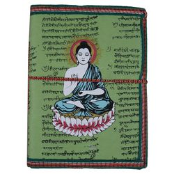 Craftsgallery Handmade Paper Travel Diary With Buddh Print, 3.5  x 5