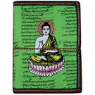 Craftsgallery Handmade Paper Diary With Buddha Print 1, 3.5 x 5 inches