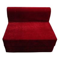 Luk Luck Multipurpose Sofa Cum Bed Cherry