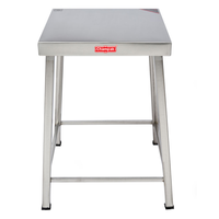 Champak Stool Stainless Steel Table 18 Inch