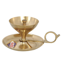 Hazel Brass Diya Oil Lamp Sampal