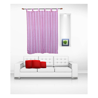 Luk Luck Cotton Ring Rod Window Curtain (Set Of 2)