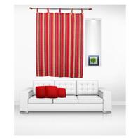 Luk Luck Cotton Ring Rod Stirpes Window Curtain (Set Of 2)