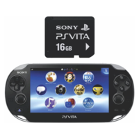 Sony PS Vita Console 2000 with Memory Card 16 GB with No (Black)