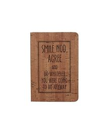 Doodle Born a Rebel Executive Diary Notebook - 10cm(L) x14.5cm(w) X1.2cm(B) , 80g/m2, 100 Pages (Light Brown)