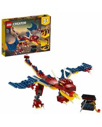 Lego Creator Fire Dragon Building Blocks, Age 7+