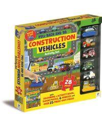 Pull Back And Go Construction Vehicles Activity Set, na