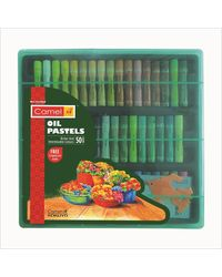 4329540 Oil Pastel 50-Shades With Reusable Plastic Pack