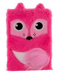 Whimsical Plush Foxnotebook, mix