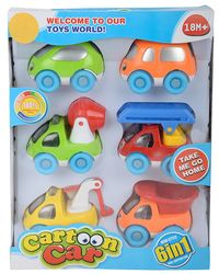 XING LE Cartoon 6 in 1 Cars