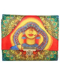Wallets And Clutches: W05-25, sunset red