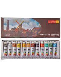 Camlin Kokuyo Artist's Oil Color Box - 9ml tubes, 12 Shades