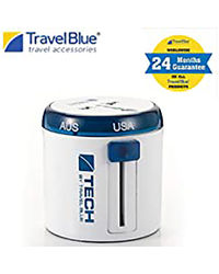 Travel Blue Twist & Slide Travel Adaptor