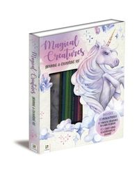 Magical Creatures Drawing & Colouring Kit, na